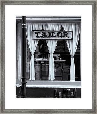 Bellows Falls Tailor Framed Print by Tom Singleton