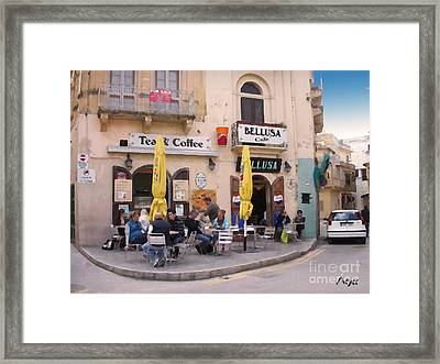 Framed Print featuring the painting Bellusa Cafe No. 1 by Sascha Meyer