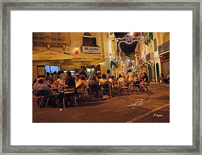 Framed Print featuring the painting Bellusa Cafe No. 2 by Sascha Meyer
