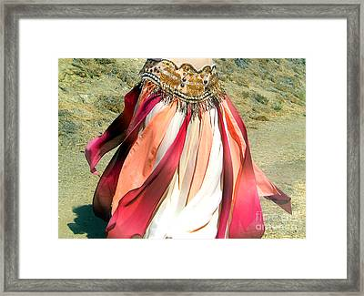 Belly Dance Fashion - Ameynra Skirt - Desert Rose Framed Print by Sofia Metal Queen