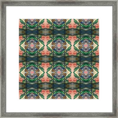 Belly Dance Mirror Image Framed Print