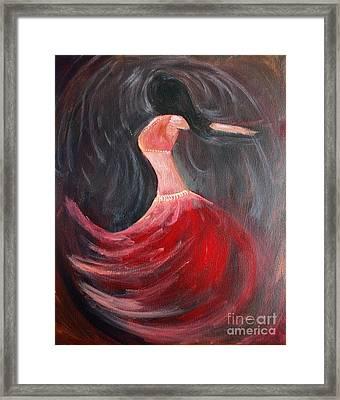 Belly Dancer 3 Framed Print by Julie Lueders