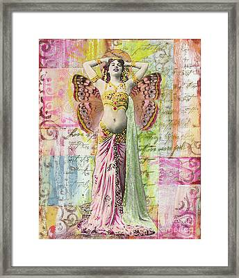 Framed Print featuring the mixed media Belly Dancer by Desiree Paquette