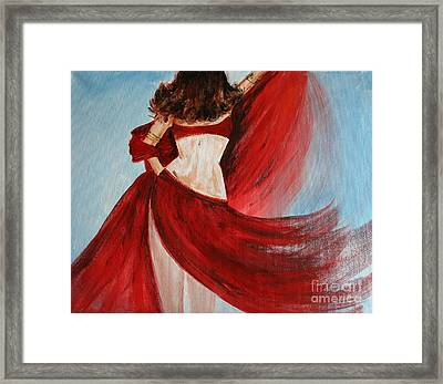 Belly Dancer Framed Print by Julie Lueders