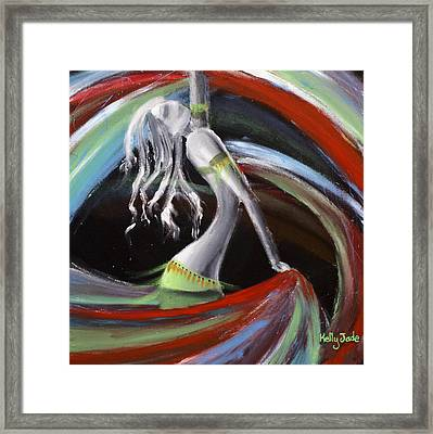 Belly Dancer Framed Print by Kelly Jade King