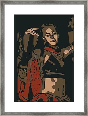 Belly Dancer Framed Print
