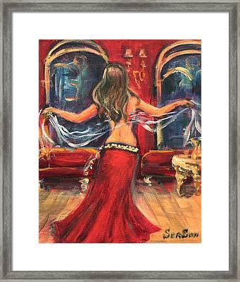 Belly Dancing Framed Print by Sonia  Von Walter