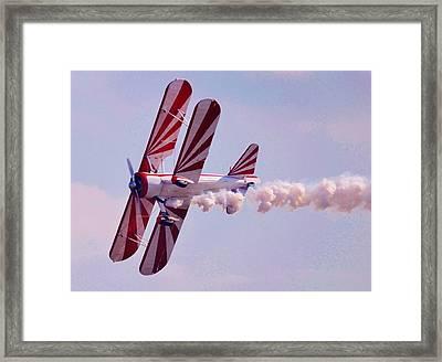 Belly Of A Biplane Framed Print