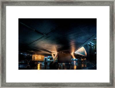 Belly Of The Shuttle Framed Print