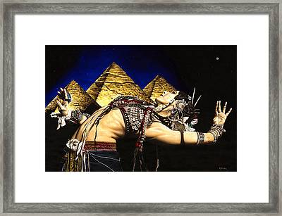 Bellydance Of The Pyramids - Rachel Brice Framed Print