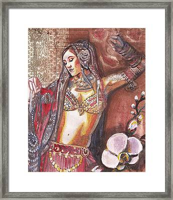 Bellydancer Framed Print by Stephanie Bolton