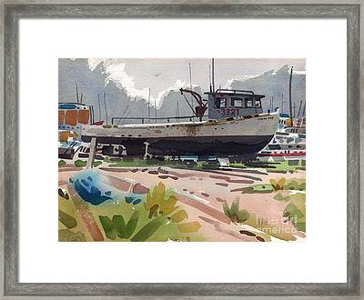 Belmar Boatyard Framed Print by Donald Maier