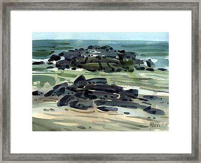 Belmar Jetty Three Framed Print by Donald Maier