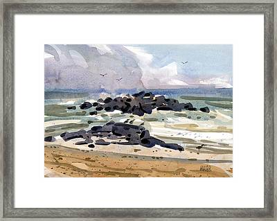 Belmar Jetty Two Framed Print by Donald Maier