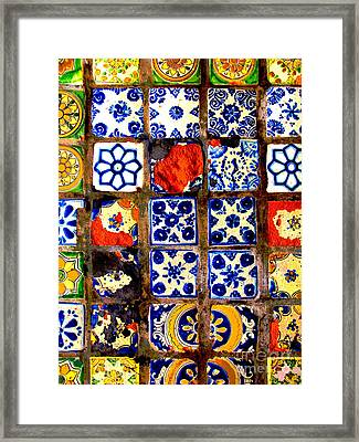 Belmar Tiles 2 By Darian Day Framed Print by Mexicolors Art Photography