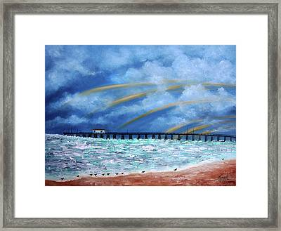Belmar's Fishing Pier Framed Print by Leonardo Ruggieri