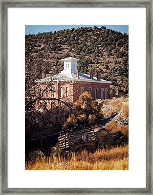Belmont Courthouse Framed Print by Troy Montemayor