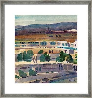 Belmont View Framed Print by Donald Maier
