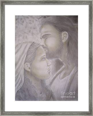 Beloved Disciple Framed Print by Oscar Arauz