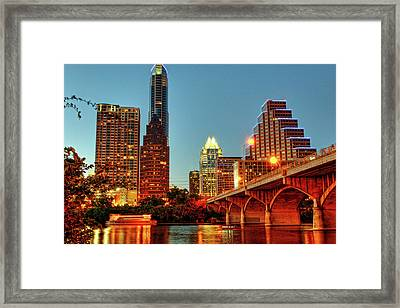 Below Congress Avenue Bridge Framed Print by David Hensley