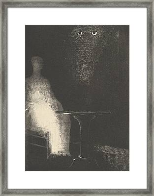 Below, I Saw The Vaporous Contours Of A Human Form Framed Print by Odilon Redon