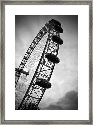 Below London's Eye Bw Framed Print by Kamil Swiatek