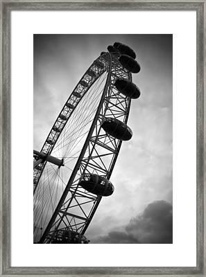 Below London's Eye Bw Framed Print by Kamil Swiatek