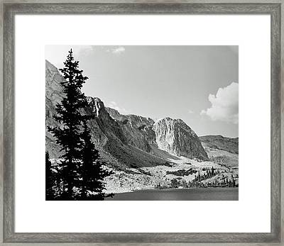 Below Medicine Bow Framed Print