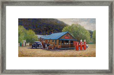 Framed Print featuring the painting Below Taos 2 by Donelli  DiMaria