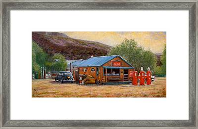 Below Taos  3 Framed Print by Donelli  DiMaria