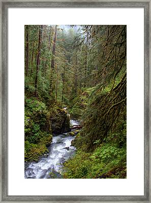 Below The Falls Framed Print