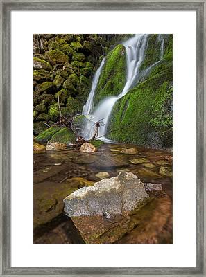 Below The Falls Framed Print