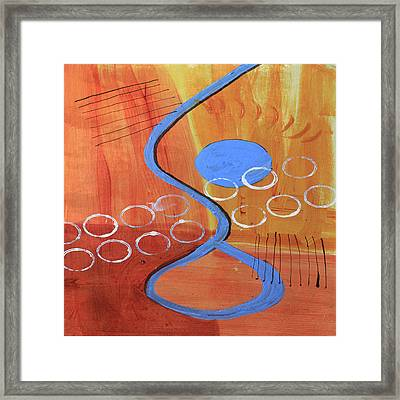 Below The Line Framed Print