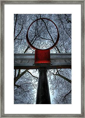 Below The Rim Framed Print by Bryan Hochman