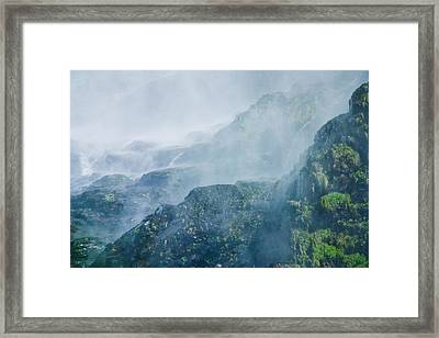 Below Wallace Falls Framed Print