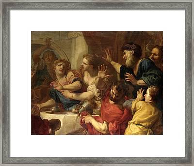 Belshazzar's Feast Framed Print by Antonio Molinari