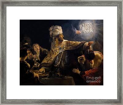 Belshazzar's Feast, By Rembrandt, Circa 1636-8,  National Galler Framed Print by Peter Barritt