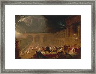 Belshazzar's Feast Framed Print by John Martin