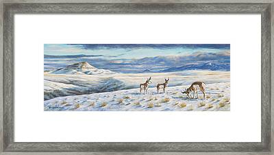 Framed Print featuring the painting Belt Butte Winter by Kim Lockman