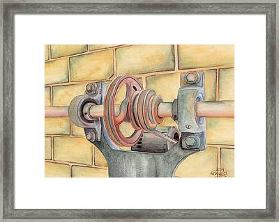 Belt Driven Framed Print by Ken Powers