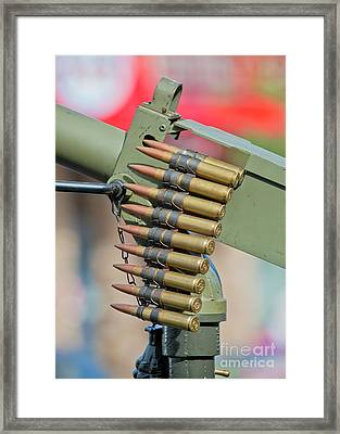 Framed Print featuring the photograph Belt Of Rounds by Chris Dutton