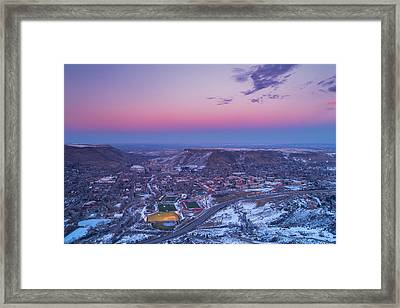 Belt Of Venus Over Golden Colorado Framed Print by Darren  White