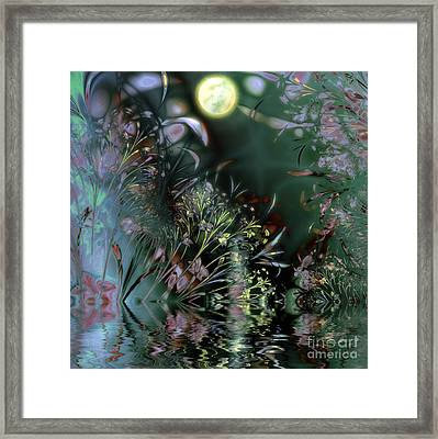 Beltane Dragonfly Night Framed Print by Mindy Sommers