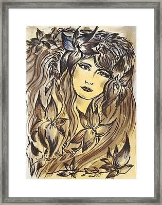 Beltane Goddess Framed Print by Pia Tohveri