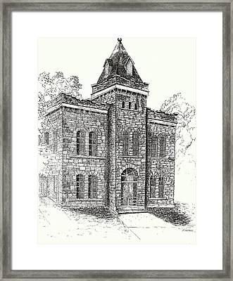 Belton Jail Framed Print by Barney Hedrick