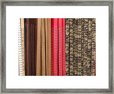 Belts Framed Print by Walter Beck