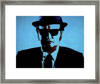 Belushi Blues Brothers Framed Print by Dan Sproul