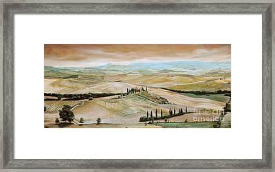 Belvedere - Tuscany Framed Print by Trevor Neal