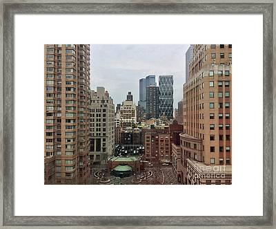 Belvedere Hotel New York City  Room With A View Framed Print