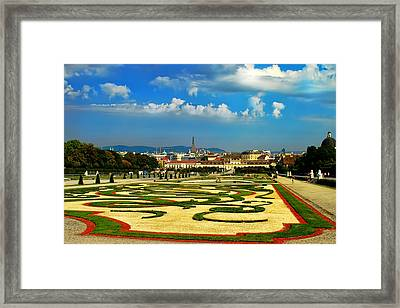 Framed Print featuring the photograph Belvedere Palace Gardens by Mariola Bitner